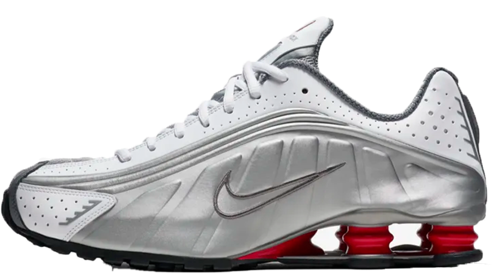 sports shoes 18c79 7a4fc If you're loving the Nike Shox R4 White Silver as much as us, hit the  stockists linked below to cop! UK true DD/MM/YYYY