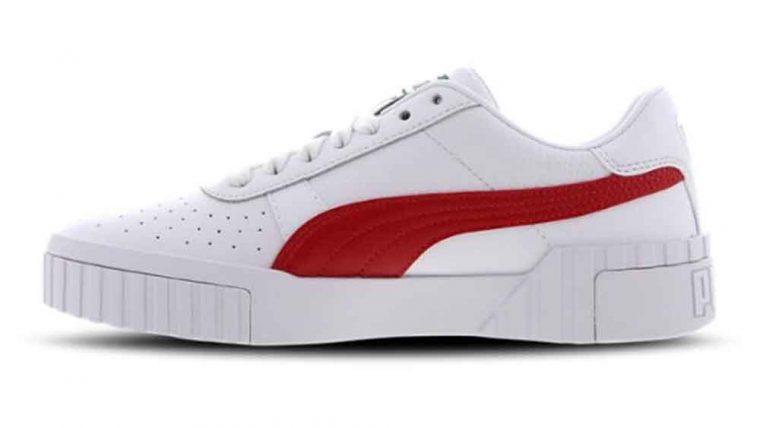 Puma Cali White Red | The Sole Womens
