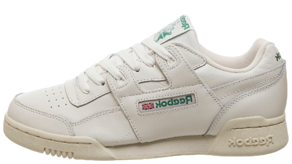d20295ee4007e Hit the links to stockists below if you re loving the Reebok Workout Plus  Vintage White Green to get your hands on a pair! UK true DD MM YYYY