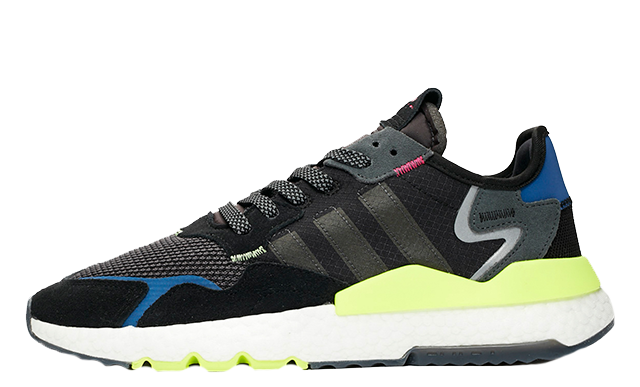 Sneakersnstuff x adidas Nite Jogger Black Volt EE9462