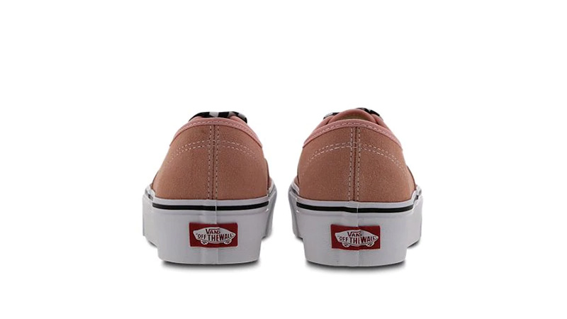Vans Authentic Platform Pink White Women 01