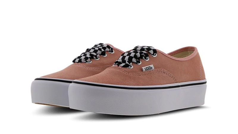 Vans Authentic Platform Pink White Women 03