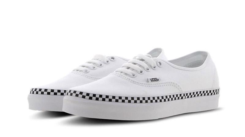 Vans Era White Black Check Womens 03
