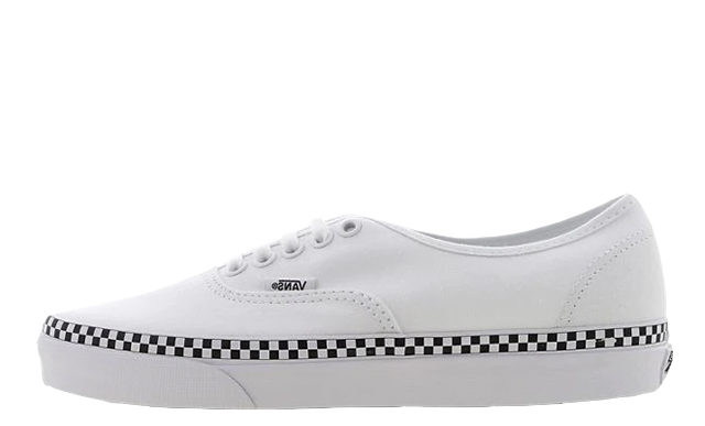 Vans Era White Black Check Womens