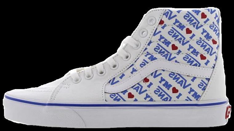 Vans Sk8-Hi I Heart Vans White Blue | VN0A38GEVP5
