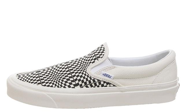Vans Slip On 98 DX Warp Check White