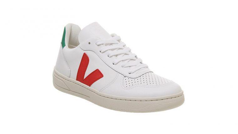 Veja V-10 White Green Red 03