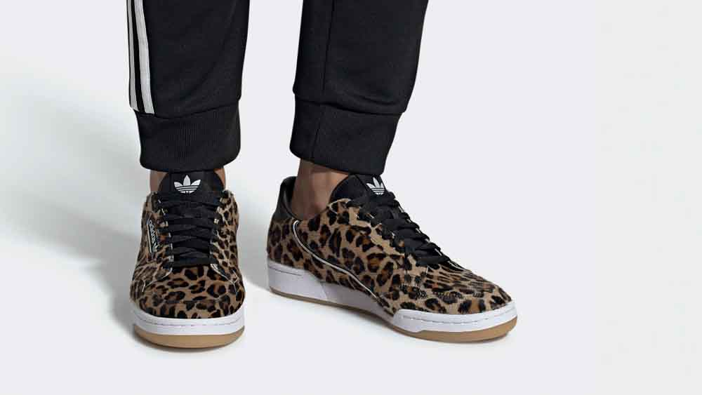 adidas Continental 80 Leopard | F33994 | The Sole Womens