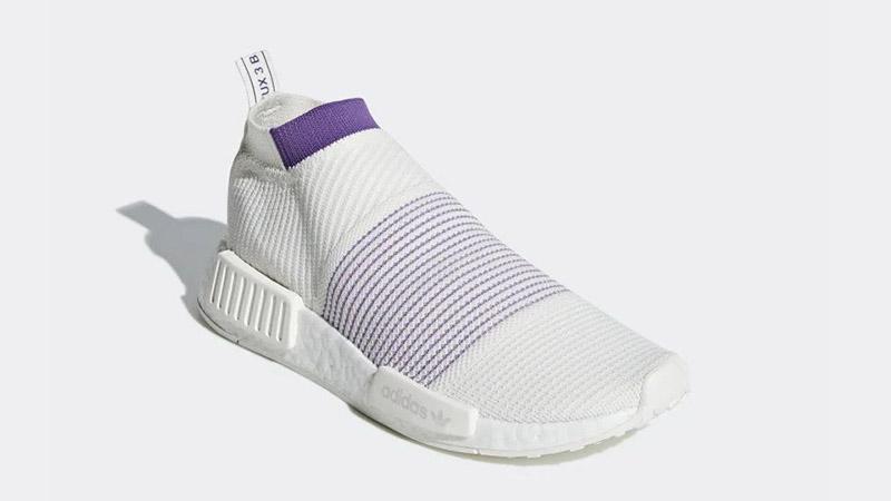 adidas NMD CS1 Primeknit White Purple CM8496 03