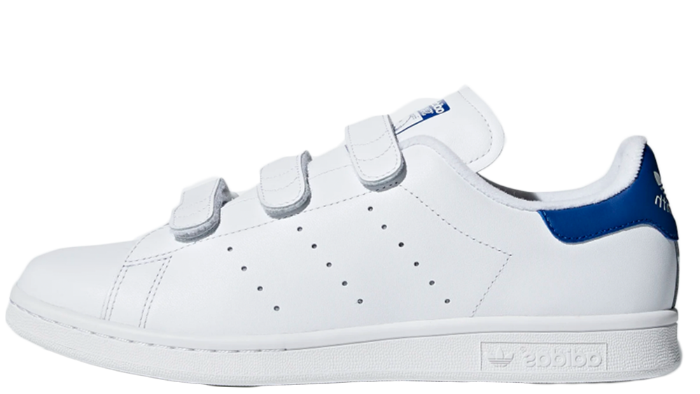 low priced 8cb8e ac962 adidas Stan Smith Velcro White Blue | S80042