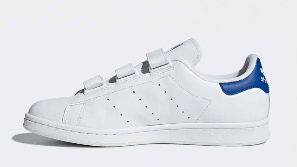 low priced a6e86 b454c adidas Stan Smith Velcro White Blue | S80042