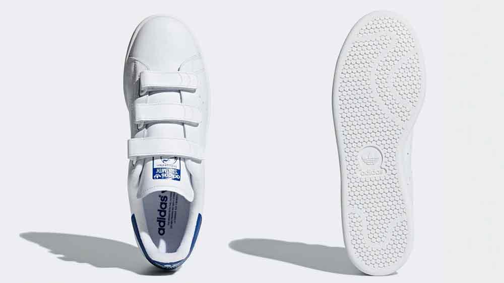 low priced 42c15 9f591 adidas Stan Smith Velcro White Blue   S80042