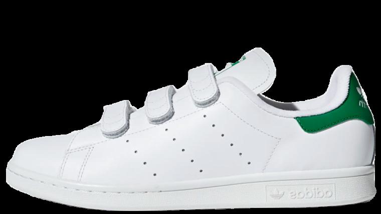 low priced 0345f 76090 adidas Stan Smith Velcro White Green   S75187
