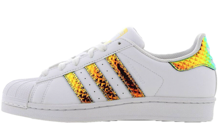 7081e71be432 adidas Superstar 3D Iridescent White Gold
