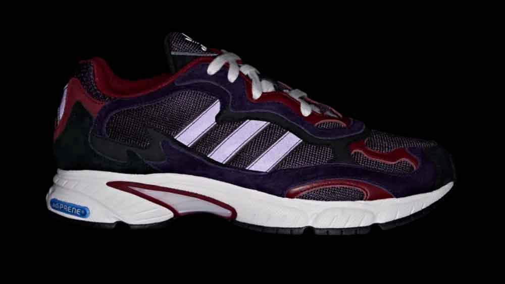 new arrival 37624 946b0 adidas Temper Run Black Purple   G27921 back dark