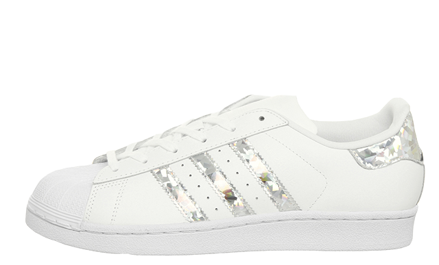 adidas Superstar GS White Silver