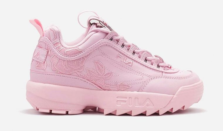 fila disruptor ii floral embroidery