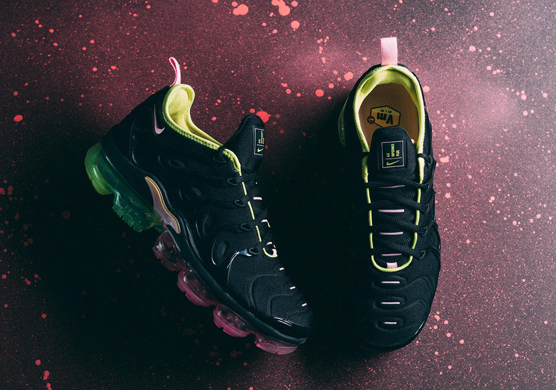 Nike's Air VaporMax Plus Gets Accented In Multicolour