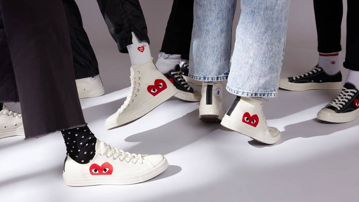 Aproximación pico salud  Women's Converse Comme des Garçons Play x Converse trainers - Latest  Releases | The Sole Womens