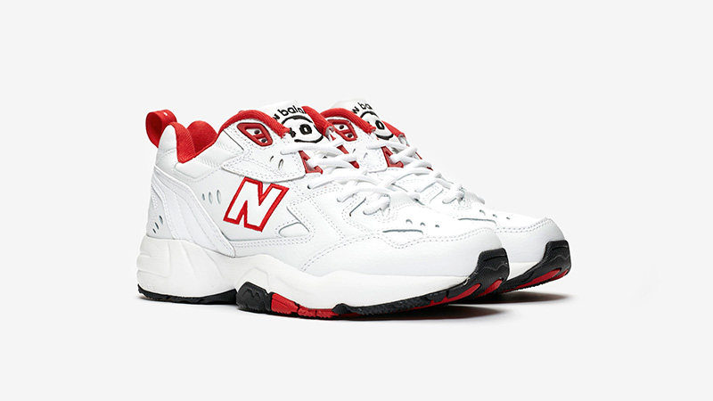 New Balance WX608 White Red front