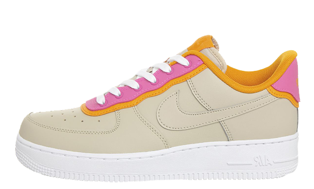 246570db2037 Nike Air Force 1 07 Desert Ore Laser Fuchsia Orange