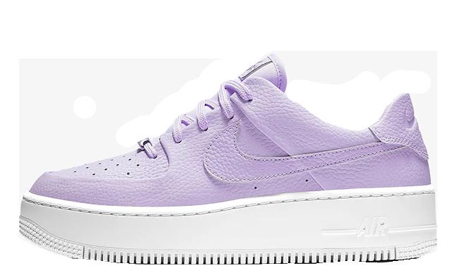 san francisco 51e7a dc217 Nike Air Force 1 Sage Low Purple | AR5339-500