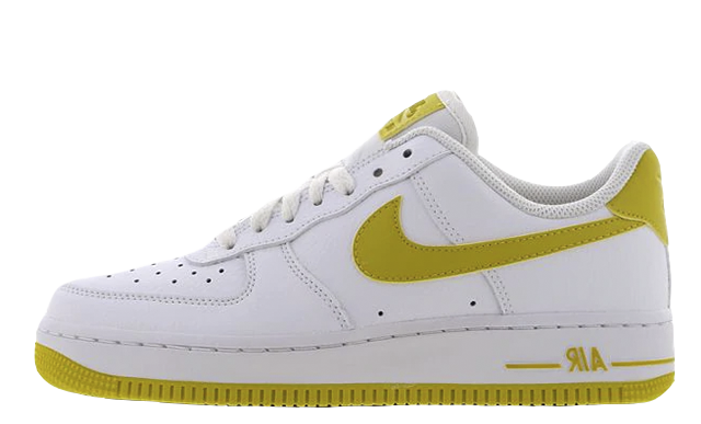 Nike Air Force 1 White Yellow Womens