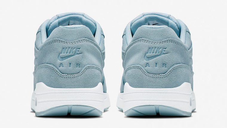 Nike Air Max 1 Turquoise Suede Womens 454746-405 back thumbnail image