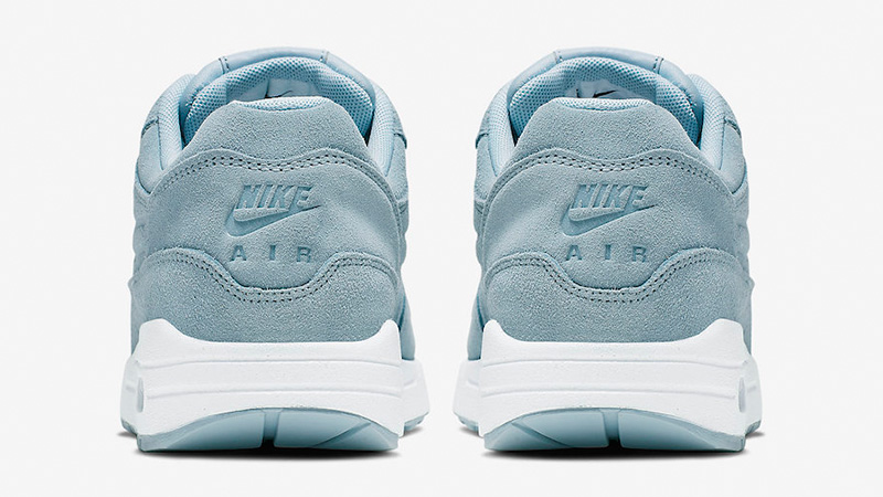 Nike Air Max 1 Turquoise Suede Womens 454746-405 back