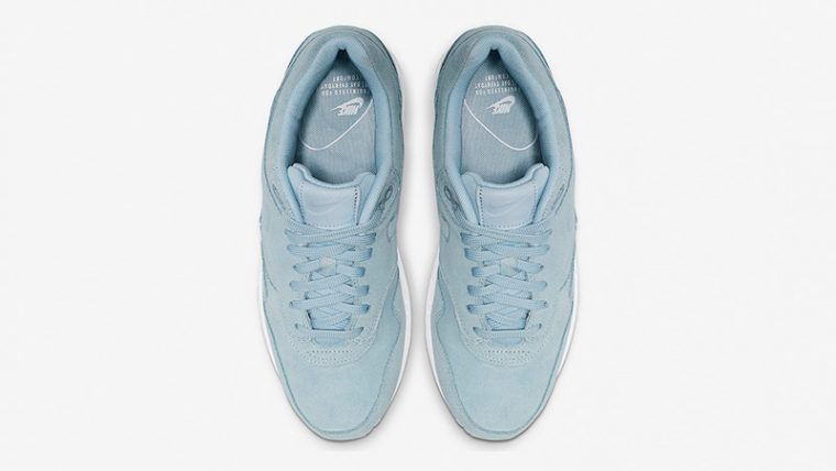Nike Air Max 1 Turquoise Suede Womens 454746-405 middle thumbnail image