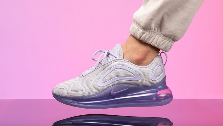 Nike Air Max 720 Oxygen Purple Womens AR9293-009 on foot thumbnail image