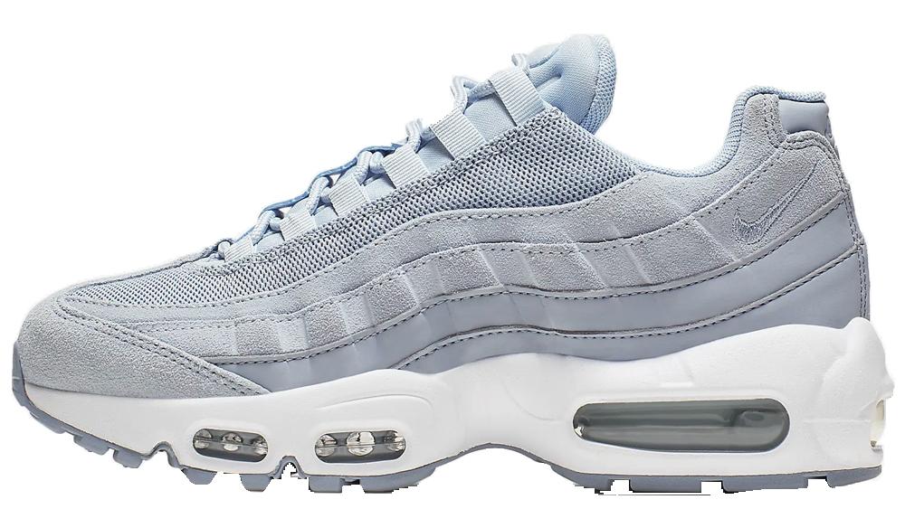 Nike Air Max 95 Light Grey White Blue Trainers | nike air