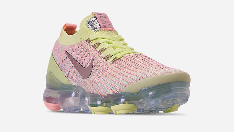 Nike Air VaporMax 3 Volt Pink Womens AJ6910-700 front