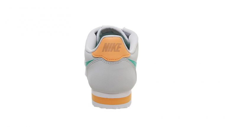 Nike Classic Cortez White Jade Orange back