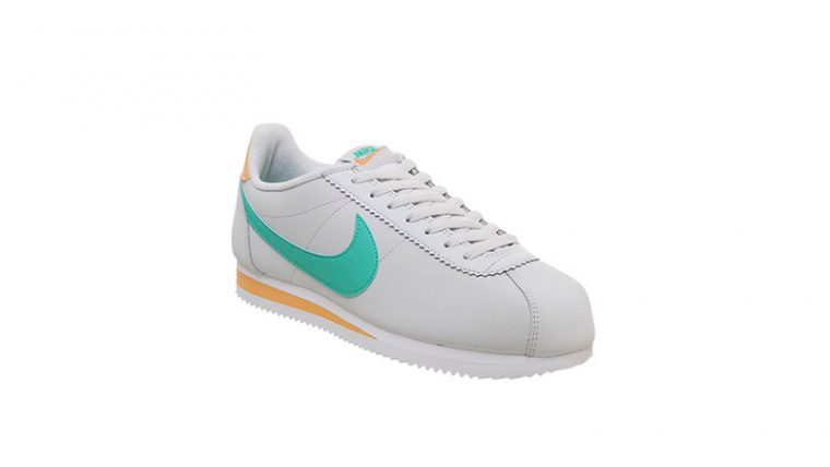 Nike Classic Cortez White Jade Orange front