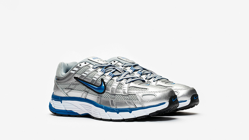 Nike P-6000 Silver Blue Womens BV1021-001 front