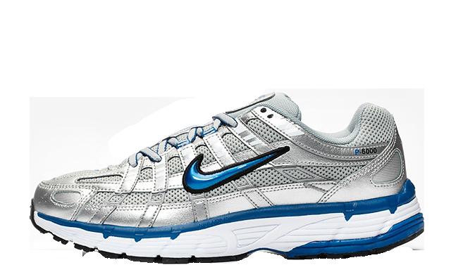 Nike P-6000 Silver Blue Womens BV1021-001