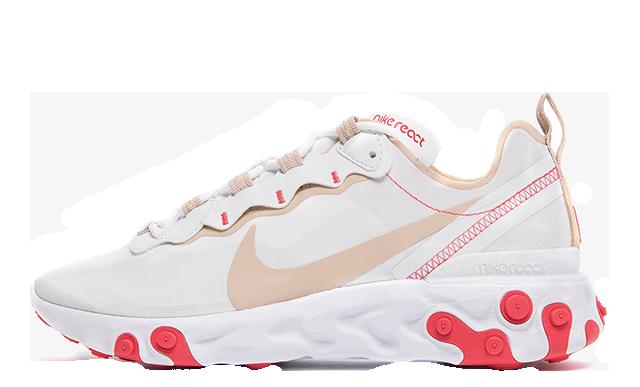 Nike React Element 55 White Red BQ2728-101