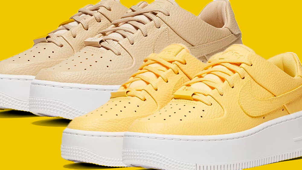 new concept 4b6c7 6e407 Revive Your Chunky Sneaker Collection With These 2 Fresh Nike Air Force 1  Sage Colourways