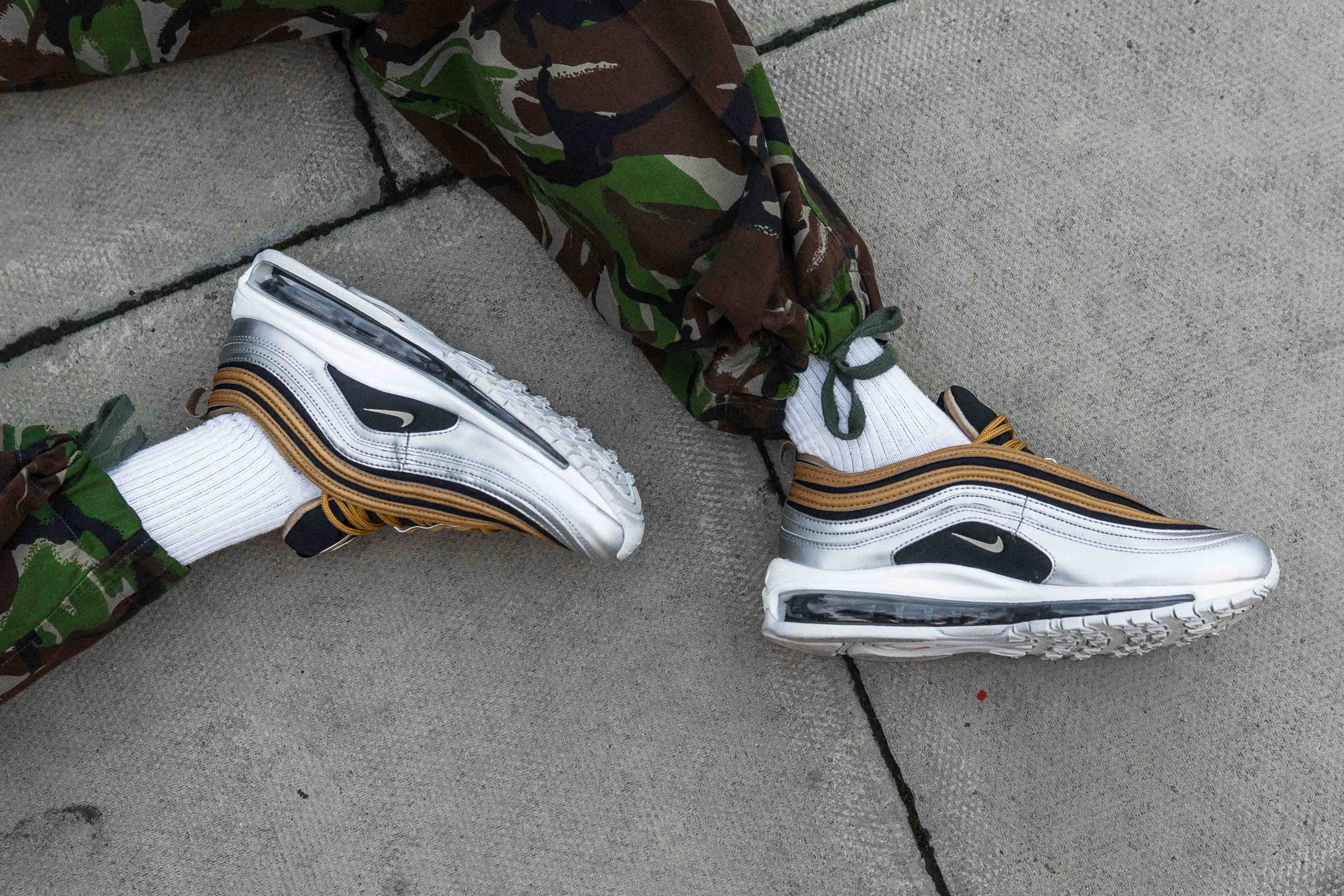 4ca1af7e41f Save An Incredible £65 On The Nike Air Max 97 Metallic Pack In The ...