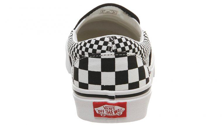 Vans Classic Slip On Mix Checker Black White back thumbnail image