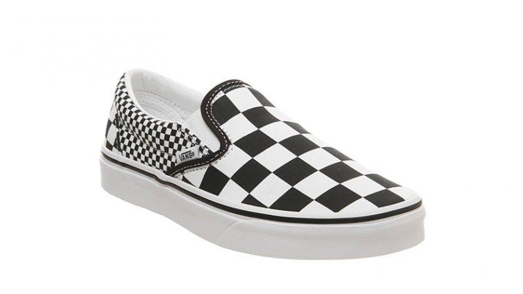Vans Classic Slip On Mix Checker Black White front thumbnail image