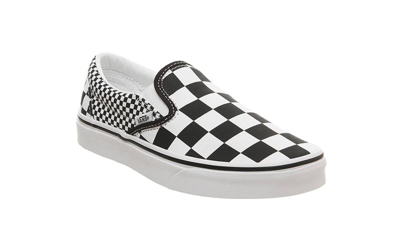 Vans Classic Slip On Mix Checker Black White front