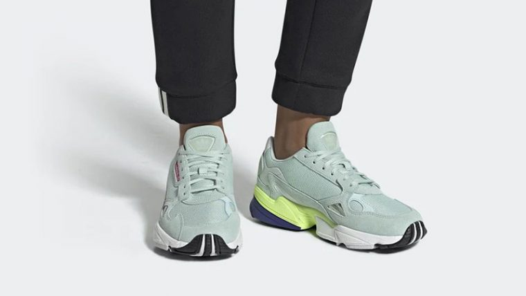 adidas Falcon Black Ice Mint CG6218 on foot thumbnail image