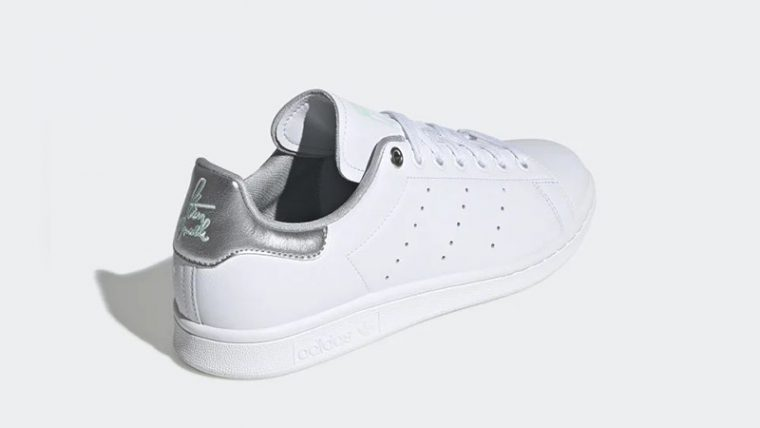 adidas Stan Smith White Silver Womens G27907 back thumbnail image
