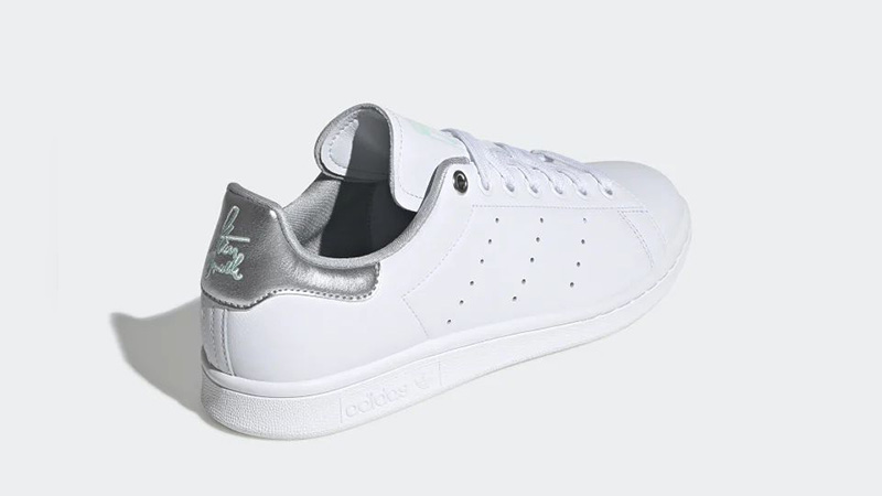 adidas Stan Smith White Silver Womens G27907 back
