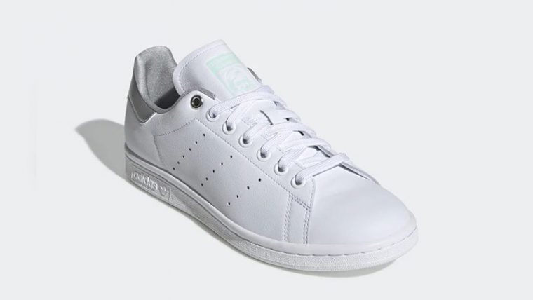 adidas Stan Smith White Silver Womens G27907 front thumbnail image