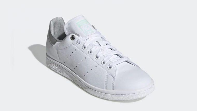 adidas Stan Smith White Silver Womens G27907 front