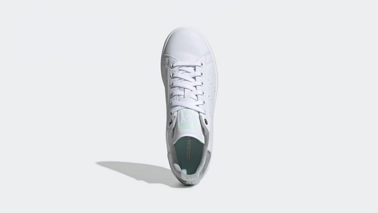 adidas Stan Smith White Silver Womens G27907 middle thumbnail image