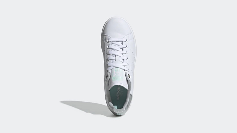 adidas Stan Smith White Silver Womens G27907 middle